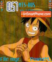 One Piece Luffy theme screenshot