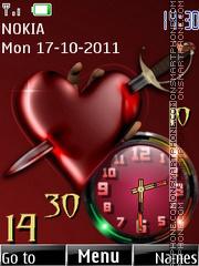 Love Heart SWF theme screenshot