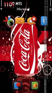 Classic Coca Cola theme screenshot