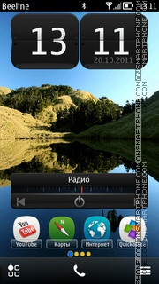 Nokia (Belle) es el tema de pantalla
