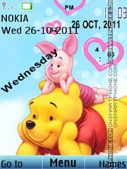 Winnie Clock 01 theme screenshot