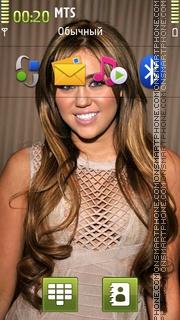 Miley Cyrus 04 theme screenshot
