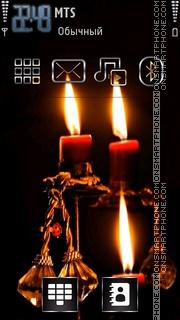 Christmas Candles 02 theme screenshot