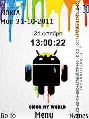 Android Clock es el tema de pantalla