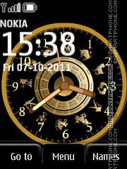 Zodiak Clock es el tema de pantalla
