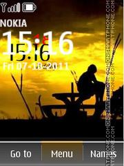 Alone Clock 01 es el tema de pantalla
