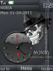 The skull in the Hat By ROMB39 theme screenshot