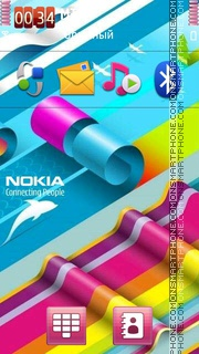 Abstract Nokia 05 theme screenshot