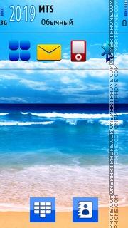 Blue Beach 01 theme screenshot