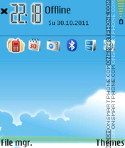 Bird Blue Vision theme screenshot