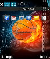 Fire N Cold Ball es el tema de pantalla