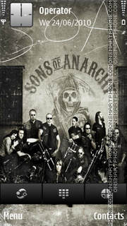 Sons of anarchy es el tema de pantalla