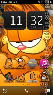 Garfield For N8 theme screenshot