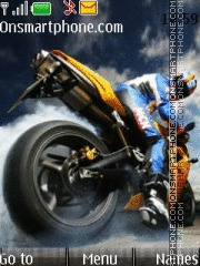 Bike Racer theme screenshot
