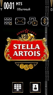 Stella Artois theme screenshot
