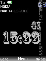 Simple Black Clock theme screenshot