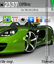 Green Car 05 theme screenshot