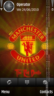 The red devils theme screenshot
