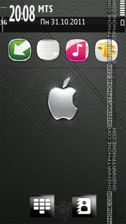 Apple Leather theme screenshot