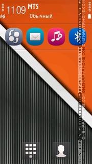 Orange Striped 5th theme screenshot