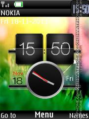 Fresh Htc Dual Clock es el tema de pantalla