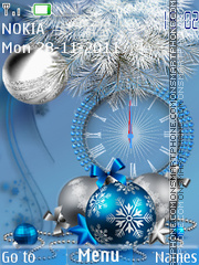 Blue new year es el tema de pantalla