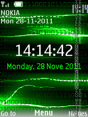 Matrix Clock theme screenshot