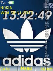 Adidas Clock es el tema de pantalla