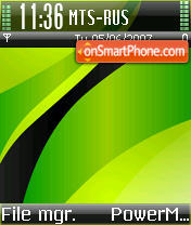 Green Power theme screenshot