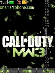 Call Of Duty Mw3 02 theme screenshot