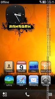 Ramadan Sunset es el tema de pantalla