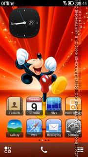 Happy Mickey es el tema de pantalla