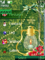 Christmas Light CLK theme screenshot