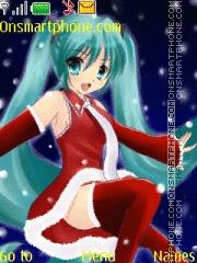 Hatsune Miku Christmas theme screenshot