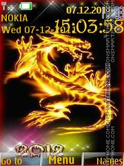 2012 Dragon Year es el tema de pantalla