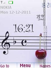 Music Clock 03 es el tema de pantalla