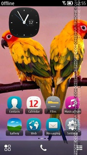 Exotic Birds 01 theme screenshot