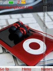Music Red iPod es el tema de pantalla