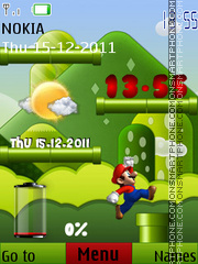 Mario Battery theme screenshot