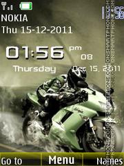 Ninja Bike Clock theme screenshot