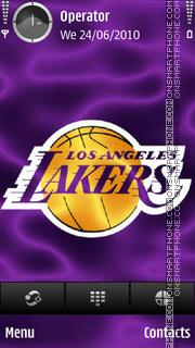 LA Lakers theme screenshot
