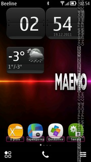 MAEMO S^Belle tema screenshot