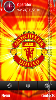 Manchester United Light tema screenshot