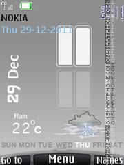 Iphone 5 Clock theme screenshot