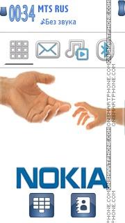 Nokia Hand 01 es el tema de pantalla