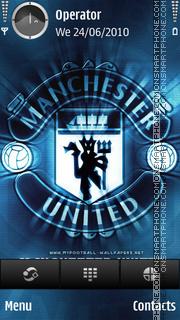 Manchester United blues theme screenshot