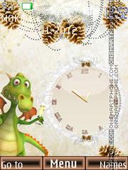 Dino new year es el tema de pantalla
