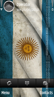 Argentina flag theme screenshot