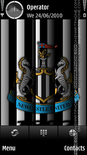 Newcastle United tema screenshot