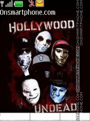 Hollywood Undead theme screenshot